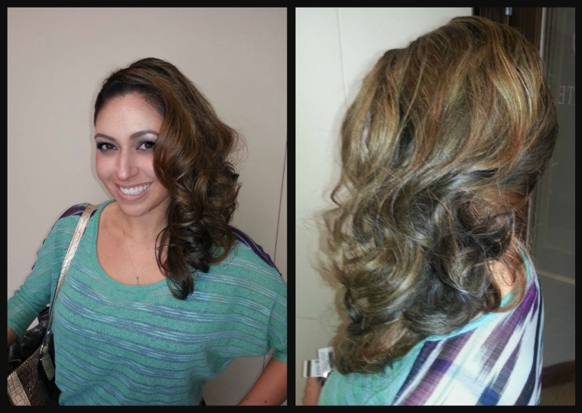 Formal hair done for the Military Ball in Fort Hood, TX