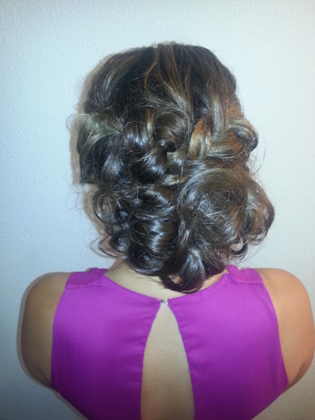 Braided updo by K